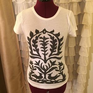 J Crew Tissue Graphic Tee size Small/ XS